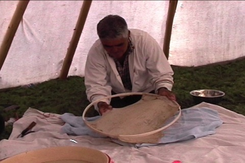 caribou hide for the drum
