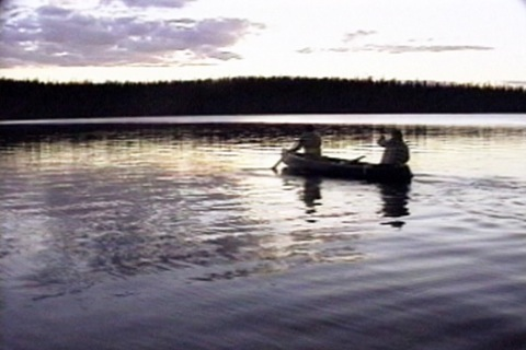 they go out in the canoe in the evening