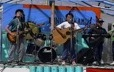 A group of young musicians perform onstage at the Innu Nikamu festival in Mani-utenam
