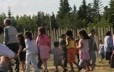 Children dancing at the Innu Nikamu music festival in Mani-Utenam