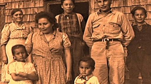 Photo de la famille St-Onge dans les années 1950