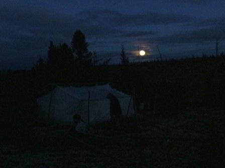 Fall camp at night