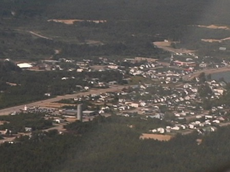 Aerial view of the community of Essipit