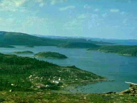 Panoramic view of the community of Utshimassit, in Labrador