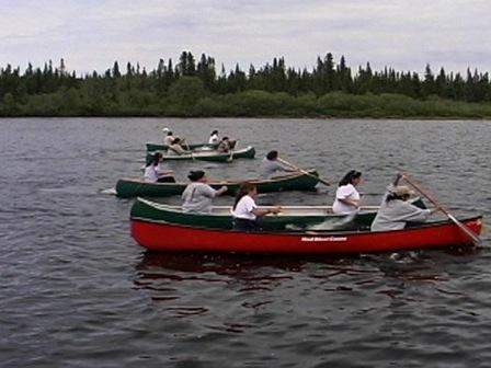 Course en canot sur la rivière Mingan